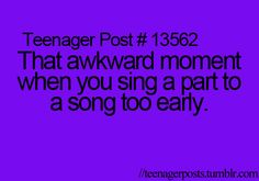 Teenager Posts - That's not awkward, that's just funny lol