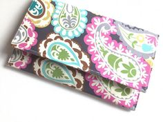 Paisley Clutch / Spring Clutch Purse / by JerseyPeachDesigns, $25.00