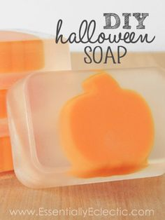 DIY Spooky Halloween Soap | www.EssentiallyEclectic.com | How to make cute halloween-themed soaps for gifts or party favors!