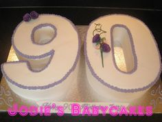 90th Birthday Number Cake Photo:  This Photo was uploaded by jodiebabycakes. Find other 90th Birthday Number Cake pictures and photos or upload your own ...