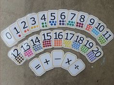 Awesome number flashcards ... for so many reasons.