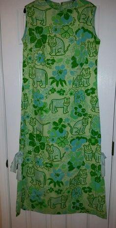 VINTAGE 1960s THE VESTED GENTRESS MAXI DRESS  WOMENS #VestedGentress #TigerPrint