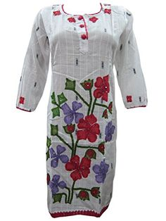 Mogul Kurta Womans Tunic Dress Ivory Red Traditional Printed Cotton Kurti S Mogul Interior http://www.amazon.com/dp/B00O2Z6JDQ/ref=cm_sw_r_pi_dp_EcS.vb101S074
