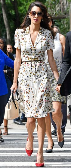 Amal Clooney's Chic Style: Every Can't-Miss Outfit   - Alexander McQueen shirtdress