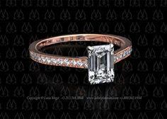 Rose gold solitaire ring by Leon Megé