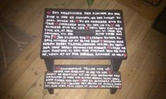 Chair with qoutes