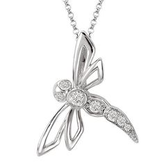 New 14k white gold diamond dragonfly pendant necklace charm jewelry new 14k white gold diamond dragonfly pendant necklace charm jewelry pendant jewelrybygary pinterest dragonfly pendant dragonflies and necklace charm aloadofball Gallery