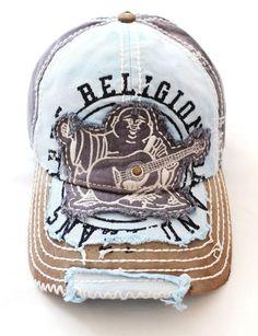ff621f9136e8fa True Religion Men Women Hat Navy Distressed Buddha Trucker Cap Unisex  Tr1101 for sale online | eBay