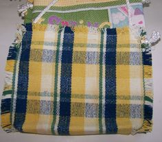 Placemat purse in pretty plaids. I think I made this one.  I made many like this.