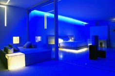 Hotel Encanto Blue Lighting Design by Miguel Angel Aragones