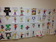 Musical art the art teacher did with her classes to celebrate Music in Our Schools Month & Young Artist Month 2013