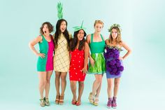 How to Be a Fruit Salad With Your Squad for Halloween via Brit + Co.
