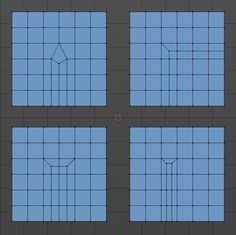 Blender Edge Cut Topology Example