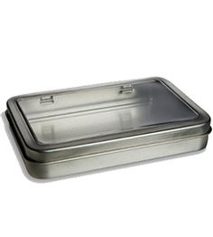 "Tin Rectangular Window 5.5"" by 3.7"" hinged boxes for marble magnets, $1.05 each!"