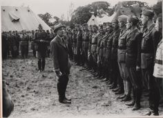 President Beneš visiting with Czech officers at Cholomdeley on 26 Jun The Third Reich, Paratrooper, World War Two, Jun, Wwii, Hate, Military, History, World War Ii