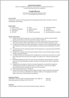 Great Administrative Assistant Resumes | Administrative Assistant Resume