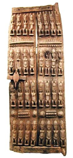 Africa   Carved wood Dogon Door from Mali.