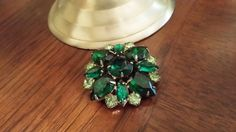 Emerald and Mint Green Faceted Rhinestone by BlingAndBlueJeans