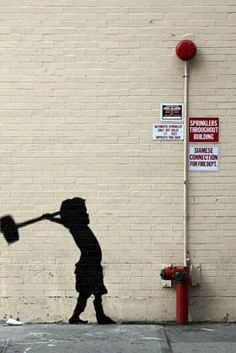 Serbian artist ABVH makes Banksy's most recent works into short animated gifs. Grafitti Street, Street Art Banksy, Banksy Graffiti, Bansky, Best Street Art, Amazing Street Art, Amazing Art, Stencil Art, Street Artists