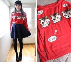 H Navy Skater Skirt, Ebay Cat Sweater