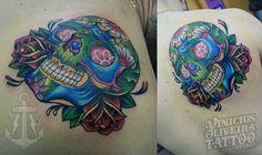 Skull, mexican, new school, calavera, Montijo calavera, tattoos, Montijo tattoo artist, MArgem sul tattoos, Caveira mexicana,