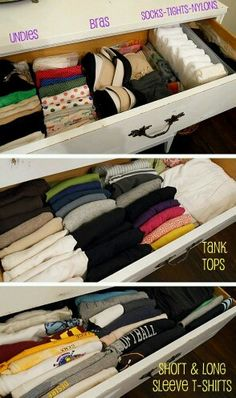 Sanity-Saving Life Hacks for Moms with Daughters Teach your daughter the KonMari method to help her keep her clothing drawer and closet organized.Teach your daughter the KonMari method to help her keep her clothing drawer and closet organized.