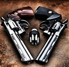 Dual revolvers, guns, weapons, self defense, protection, 2nd amendment, America, firearms, munitions #guns #weapons