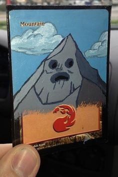 "A plain old ""Mountain"" mana card gets a disgusting, fantastic Adventure Time makeover. 