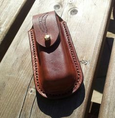 Leatherman wave pouch by Rock face Leather Works.