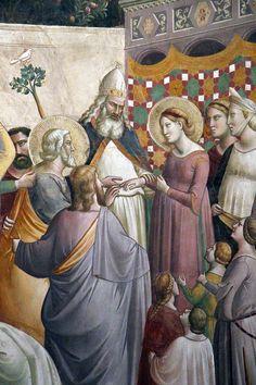 Taddeo Gaddi - Sposalizio di Maria, da Storie della vita di Maria Vergine e dell'infanzia di Gesù - affresco - 1328 circa - Cappella Baroncelli - Santa Croce Firenze