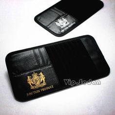 Junction Produce Leather Gold JP Auto CD Disk Bag Cover Holder Sunshade Sunvisor   eBay
