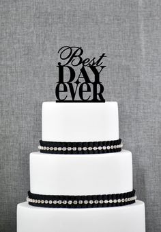Best Day Ever Cake Topper Charming Cake Topper Wedding Cake Topper Engagement Party Birthday Cake Topper Engagement Gift (S059) by ChicagoFactory! Find it now at http://ift.tt/1PEAhmN!
