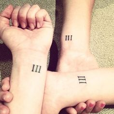 This is listed as a sister tattoo, but I think it would make an excellent neutral for any amount of siblings