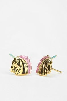 Unicorns, Grandma's fav!     Diament Jewelry For Urban Renewal Painted Unicorn Stud Earring Online Only.