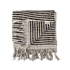 Mayde Black White Crescent Beach Towel - Soludos Espadrilles