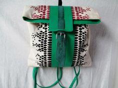 PALETHORP SNAKESKIN Leather BACKPACK Shoulder Rucksack Travel BAG Purse GREEN WT