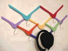 DIY Cool Different Coat Hanger...would be good for bellydancing costumes (scarves,jewelry, etc)