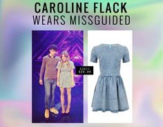 Caroline Flack has been snapped wearing our stylish Aggie Denim Skater Dress whilst filming The X Factor. Get the look here: http://www.missguided.co.uk/catalog/product/view/id/80393/s/aggie-denim-skater-dress/  #missguided #fashion #outfit #style #skater #dress #denim #getthelook #carolineflack