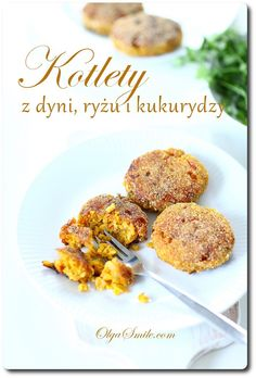 Kotlety z dyni Pumpkin Balls Recipe, Polish Recipes, Polish Food, Vegan Dinners, Baked Potato, Risotto, Curry, Veggies, Dishes