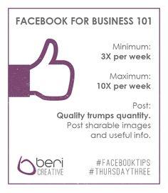 #FacebookTips from Beri Creative - #ThursdayThree