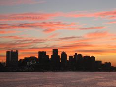 Re-Pinned 3 Times:  Sunset from Boston Harbor - July, 2007