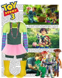 """""""toy story 3, bonnie (:"""" by simmaaay ❤ liked on Polyvore"""