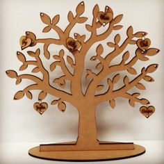 Laser Cut Wooden and Acrylic Decor. Gifts for all Occasions. - Never Ending Tree Of Love- Family Tree Personalised Family Tree, Personalized Gifts, Wooden Decor, In The Tree, Hearts, Australia, Love, Design, Blue Prints