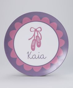Take a look at this Ballet Personalized Plate by Lima Bean Kids on #zulily today!