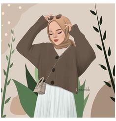 #girlydrawing #hijab #حجاب Girly Drawings, Woman Illustration, Art Girl, Panda, Disney Characters, Fictional Characters, Aurora Sleeping Beauty, Coffee Cafe, Disney Princess