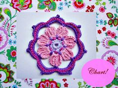 Gabriella Crochet Flower Pattern by wonderfulhands on Etsy, $3.50