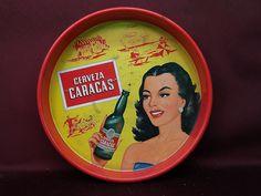 CERVEZA CARACAS DE VENEZUELA - VINTAGE BEER TRAY