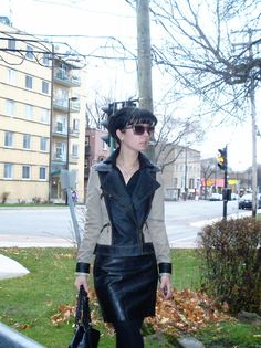 Jennifer Kaya Canadian fashion blogger www.jenniferkaya.com #fashion #fashionblogger #cute  leather bag #outfit #bag #skirt #leather skirt #jacket  #ootd #outfit #style #business outfit #classic #elegant  #cute #dress #leather jacket  #jacket #heels #high heels  #boots