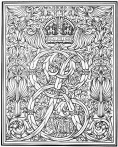 Symbole et gravure d'un monogramme