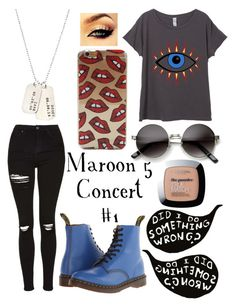 """"""""""" by lhaddock ❤ liked on Polyvore featuring Topshop, Dr. Martens, AnnaBee, L'Oréal Paris, women's clothing, women, female, woman, misses and juniors"""